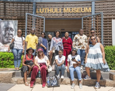 The media group at the Luthuli Museum at Groutville